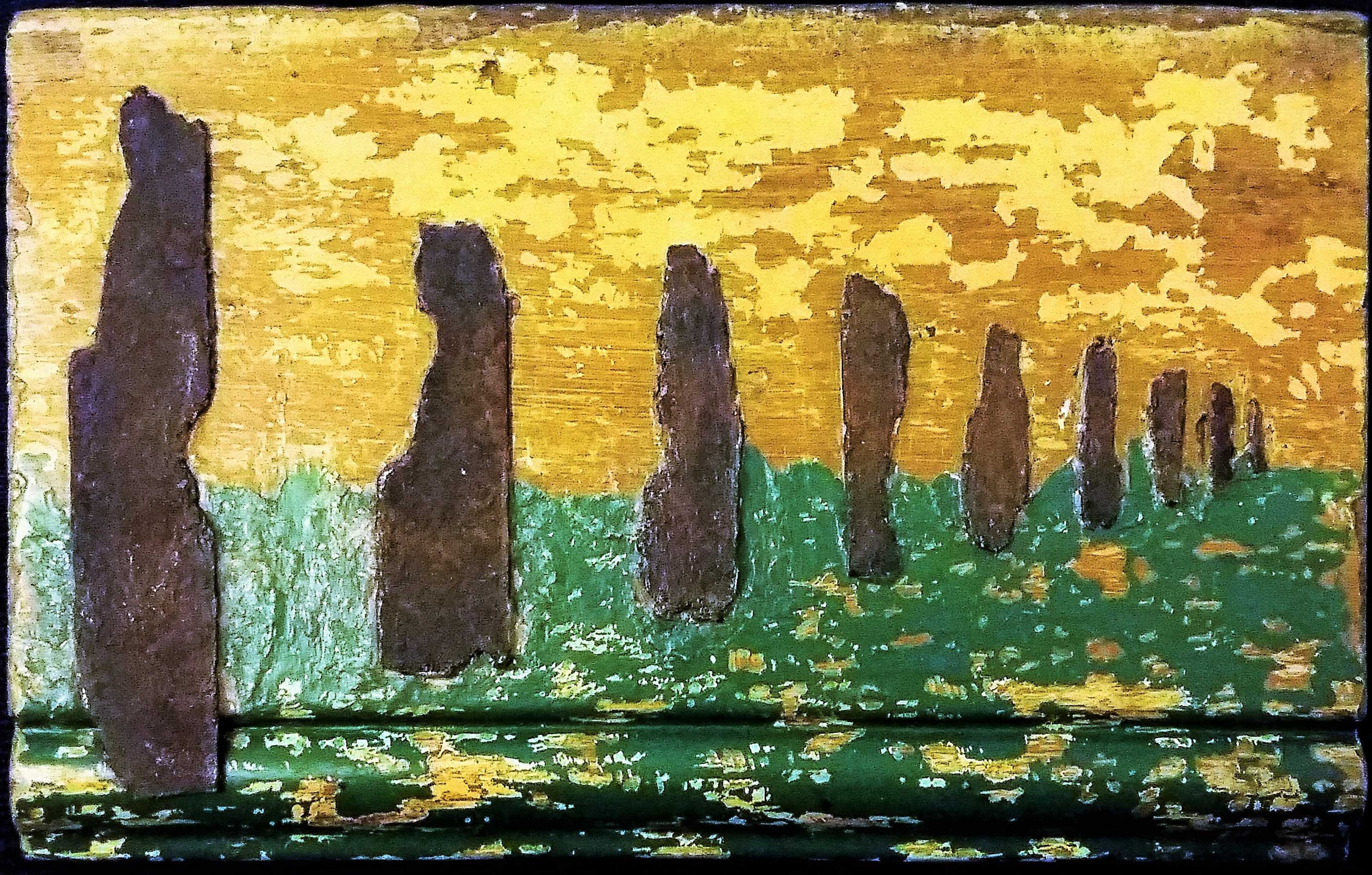 Standing Stones, Mixed media - found materials, 2015, by Gary Studley