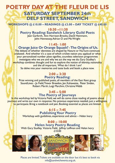 Poster for Poetry day @ the Fleur de Lis
